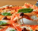 【シェフに任せてお得に!】前菜+本日のピッツァ+本日のパスタ+本日のメイン+ドルチェ! 気軽に愉しむお任せコース「カジュアーレ」! ※フリードリンク2時間付き