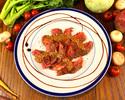 【焼きトマトとブラータチーズのカプレーゼや国産和牛イチボ等、野菜も肉も味わいたい人の為のわがまま贅沢コース】