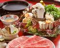 特上松茸すき焼コース(特上ロースとヒレ)