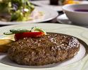 【ディナー】ご宿泊者様限定セットメニュー『沖縄県産和牛とあぐー豚のハンバーグステーキ』