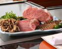 Specially selected beef steak and domestic live shrimp course
