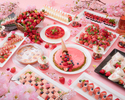 【直前割】乾杯酒ロゼスパークリング付!桜色のスイーツと食事で夜桜気分♪いちご×花見プラン!!第2部