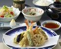 【天ぷら御膳×1ドリンク付き!】先付、お造り、天ぷら盛合わせなど、旬食材を贅沢にホテル高層階で味わう