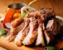 【2名様OK!】乾杯1ドリンク付 北海道産神威四元豚のグリルと前菜、パスタのライトコース 全4品