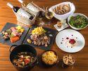 【テラスでフリーフロー/スペシャルメニュー】ラ・スイートのワイン&ビアガーデン ~CELEBRITY~ 特選牛グリルなど全7品