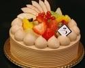 フルーツデコレーションケーキ(チョコクリーム)12cm