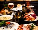 【気軽に歓送迎会!】お魚まるごと!ムール貝も!魚介の歓送迎会コース◆全6品 直輸入樽生ベルギークラフトビール1種含む 2h飲み放題コース