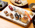 【Lunch Ukiyoe Sushi Set】Sushi (7 pieces) inspired by Edo-era(Ukiyoe)