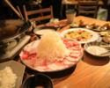 【コタツ席確約!!】◇肉盛り!六白黒豚とコタツを満喫・贅沢つゆしゃぶコース◇