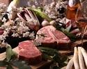【インドアお花見】国産牛サーロインステーキ900°グリル150g含む全5品