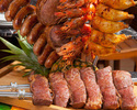 [10/1 ~ reservation] [Lunch Churrasco] 10 types Churrasco, about 30 Brazilian dishes, with drink bar
