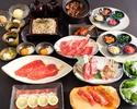 【スタンダードコース全10品】2時間30分制◆人気の元祖焦がしタレ肉土鍋付◆