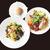 【TAKEOUT】スパゲッティーニ 彩どり野菜のアーリオオーリオ サラダ、パンセット