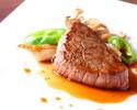 魚料理に鮑、オマール海老などを使ったコース
