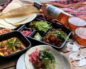 [BOTTLE ROSE WINE & FOOD SET]ROSÉ WINE + SEAFOOD CEVICHE + TACOS KIT