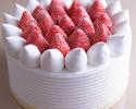 【デリバリー】6号(18cm)ストロベリーショートケーキ ¥6,300(税抜)