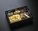 活鮑と常陸牛バラ肉の煮込みと海鮮炒飯弁当 ¥5,000