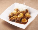 Sweet and sour pork with black vinegar yam