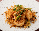 Fried seafood garlic spice