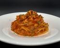 篠島産真蛸のラグー 軽いトマトソースで-pasta set-