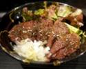 【TAKEOUT】ハラミステーキ丼(厚切り5切)Outside Skirt Rice Bowl