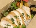 鶏むね肉のローストウイスキーハニーマスタードソース