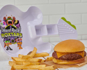 KIDS BURGER WITH HARD ROCK ROXTARS PLATE