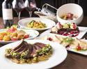 鯛と牛フィレ肉のWメインなどが楽しめる豪華6品×300種から選べる嬉しいワンドリンク付き