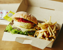 <Takeout>【Grilled Beef Burger (including french fries)】THE BIG ONION 🍔🍟