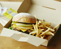 <Drive-through>【Grilled Beef Burger (including french fries)】BBQ🍔🍟