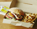 <Drive-through>【Grilled Beef Burger (including french fries)】Okinawa🍔🍟