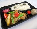 【持ち帰り弁当】鶏肉とアスパラの柚子胡椒炒め弁当