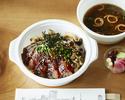 <Drive-through>【Main Dishes】Steak Don with Miso Soup🍚