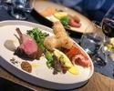 【平日Web予約限定】【サーフ&ターフコース】季節野菜のサラダと肉や魚10種類の中から選べる2種のメインなどを堪能