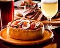 【2時間飲み放題】自社醸造クラフトビール&スパークリングフリーフロー 特製シャルキトリーにズワイガニ・トリュフ前菜、自社輸入ソーセージ2種と本格シカゴピザコース
