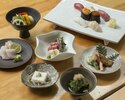 【Dinner Online Special】Shiosai set - 7 courses including Sushi (7 pieces) with a complimentary welcome drink