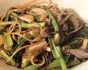 【PASTA】季節野菜とアンチョビのペペロンチーノ スパゲッティ