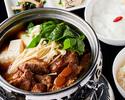 スペアリブの角煮鍋定食 (ご飯お代わり自由)
