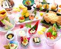 7・8月【ランチ・ディナー】女子限定!女子会特別コース(前菜6種とお料理4品+選べるデザート+50種飲み放題付)