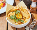 Potato Wedges with Sour Cream and Chili Mango Chutney
