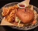 Crispy Buttermilk Fried Chicken Sandwich with Fries