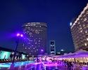 Night pool & Italian bar [Weekday in August]