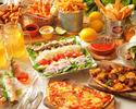 コブサラダやポキなどププス中心のおつまみプラン。『カジュアルハワイアンコース全9品+1ドリンク付』