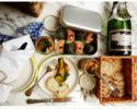 【女子会 記念日におすすめ】和牛のメイン料理・目の前で仕上げる特製デセール付き ディナー6品フルコース