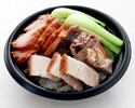 【本館売店テイクアウト】拼盤丼-三種焼き物丼-864円