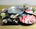 ◎松坂牛・豚ロース・豚バラ・合鴨・鶏肉 5種のしゃぶしゃぶコース【2ドリンク付き】
