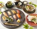 《9月ランチ限定 贅沢寿司コース》全7品の寿司マイスターが握る!七種の江戸前寿司コース