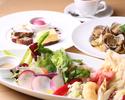 【平日限定】前菜やサラダを盛合せた特製アンティパストプレート・パスタ・デザート盛合せに食後のカフェ付