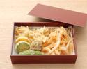白海老と季節野菜の天ぷら