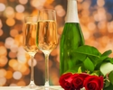 """《 ANNIVERSARY & ÉTOILE 》""""Country tasty foods"""" Congratulatory message & glass champagne"""